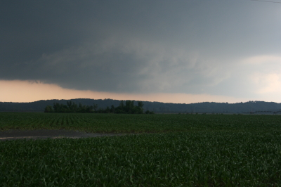 Wall cloud passing to the south.