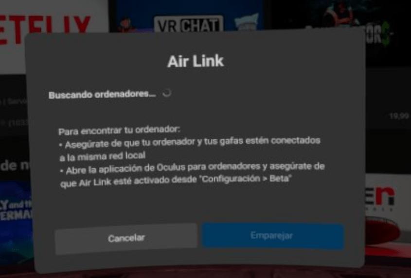 Activar AirLink Quest 2