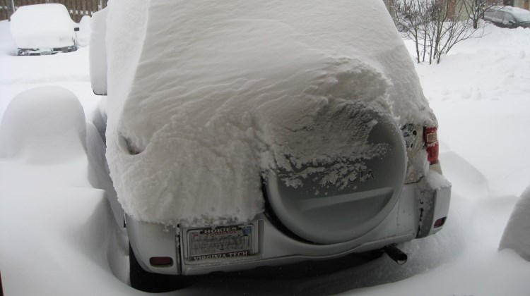 My car after Snowmaggedon I in 2010