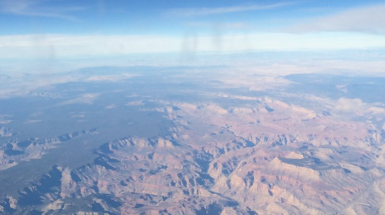 The Grand Canyon from an airplane