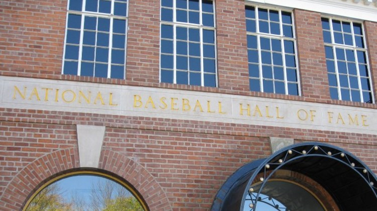 Front of the National Baseball Hall of Fame and Museum in Cooperstown, NY