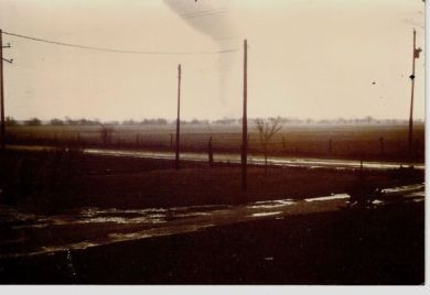 A view of the Wanatah tornado looking southeast from County Rd. 1250.