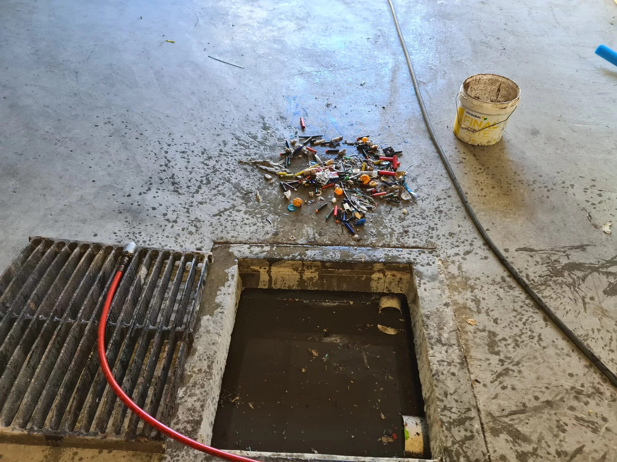 blocked pit cleaning
