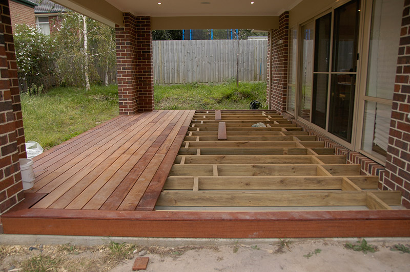 Deck Over Concrete Patio  Car Interior Design