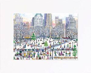 Central Park Holiday Print
