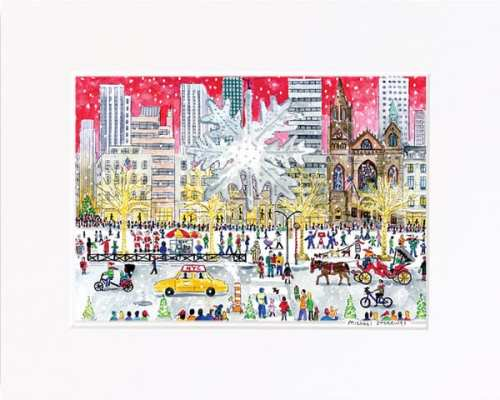 Christmas on Fifth Avenue Print