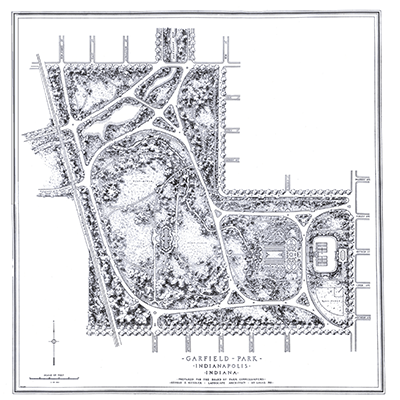 Garfield Park Plan of 1913 by landscape architect George E. Kessler