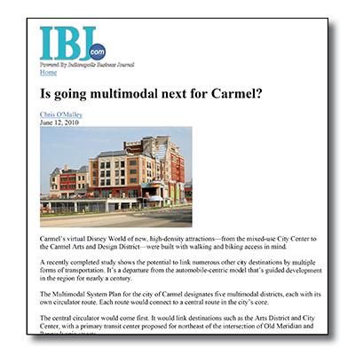 Carmel Multimodal System Plan - IBJ Article
