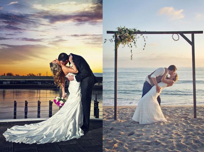 помощью позы для свадебных фото на море необыкновенным