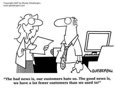Fewer Customers Cartoon