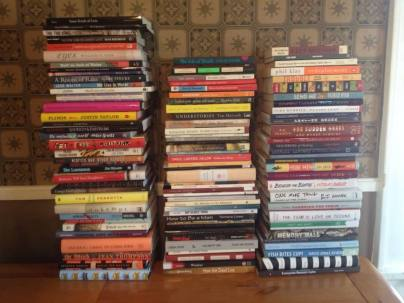The books. The stack on the left have, in order, been featured on Story366.