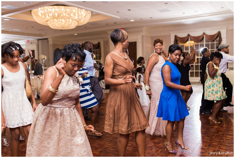 Wedding guest dancing to the tunes of DJ Brian Jay