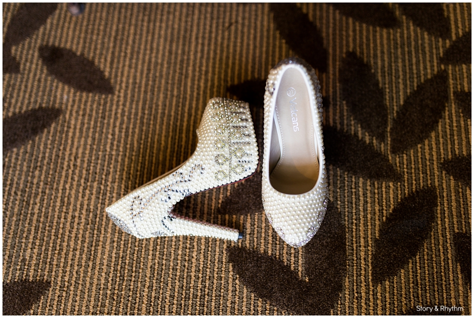 Unique red bottom wedding shoes