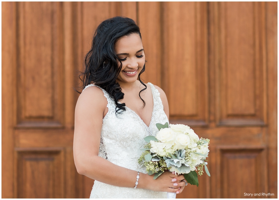 Landmark wedding photos in Garner