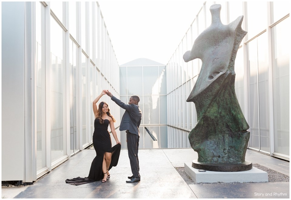NC Art Museum engagement photos