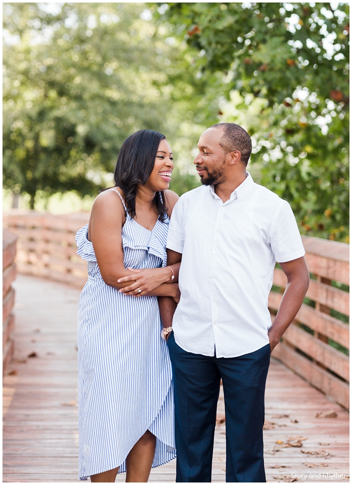 Fun engagement photos with African American couple