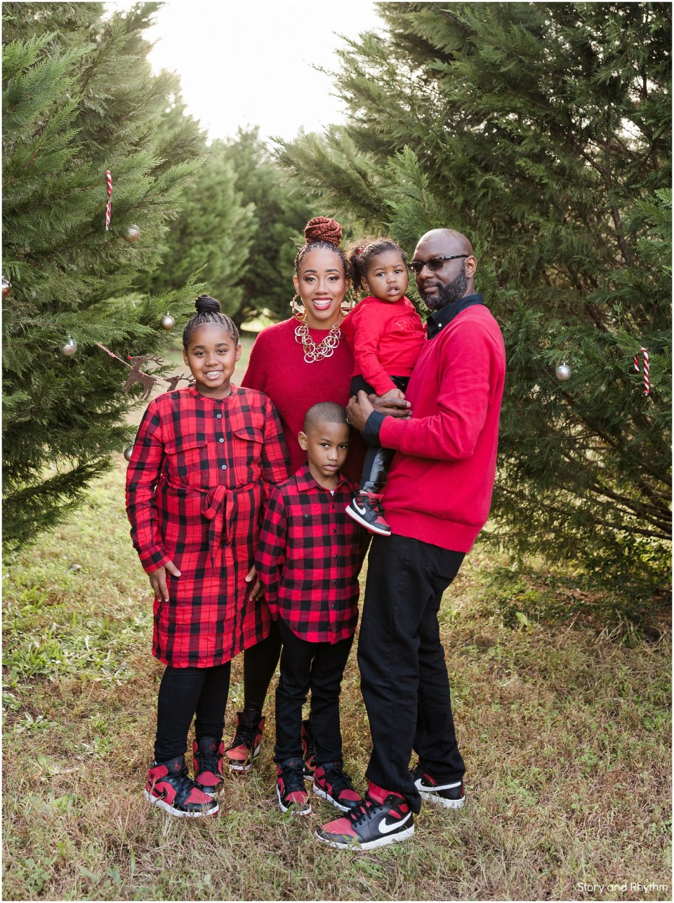 Holiday family photos in Garner NC