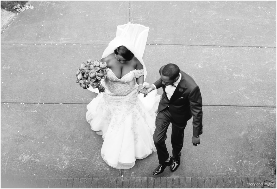 Black and white wedding photography in Raleigh NC