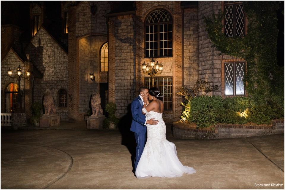 Bride and groom portraits at Barclay Villa