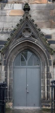 Grey Church Door