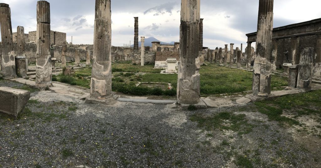Apollos temple in Pompeii