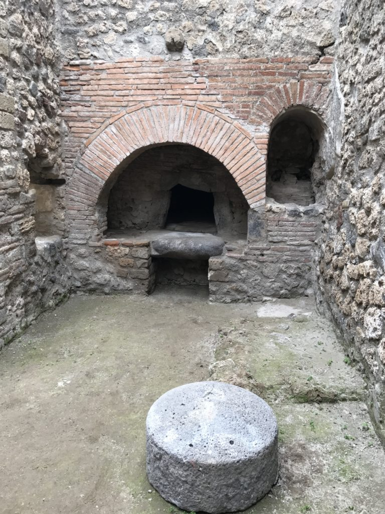 One of the few homes in Pompeii that has it own oven.