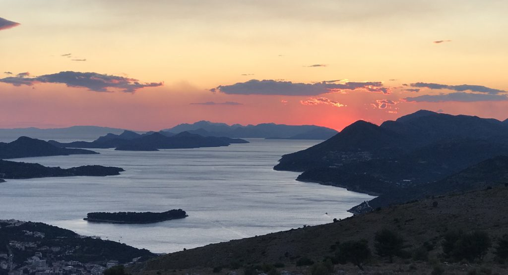 Little in life compares with lying on a hillside watching the glorious sunset behind the Islands and the Adriatic Sea.