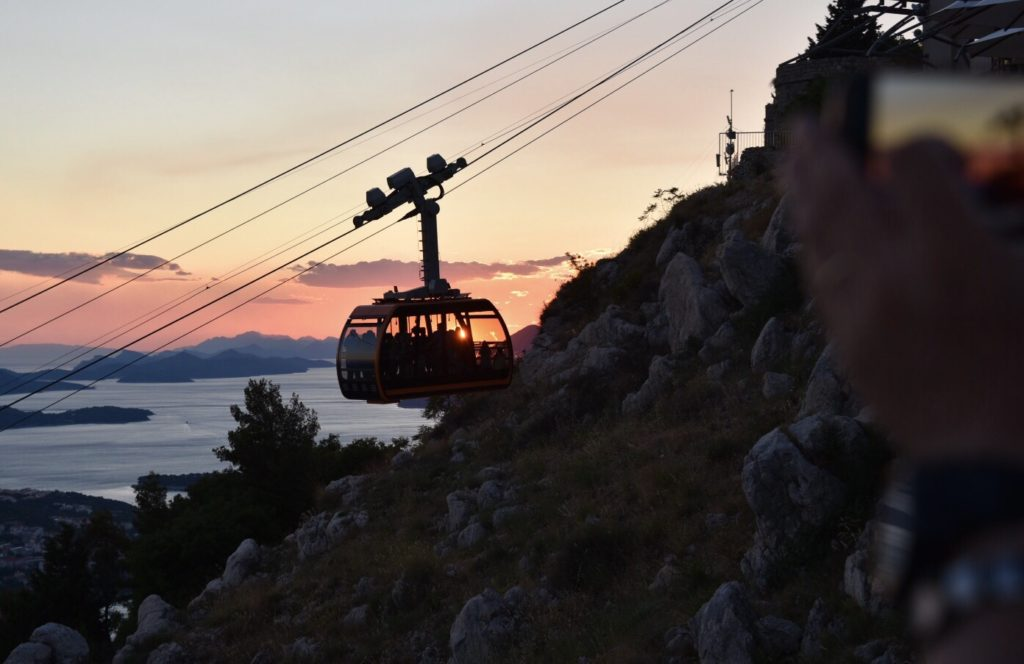 We returned to Dubrovnik with the short cable car ride. The cable car was originally built in 1960. It was rebuilt and reopened in 2010.