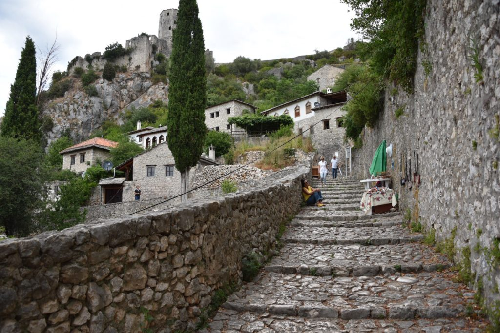 The main stairs to climb up this steep village.