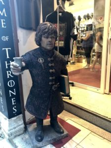 Game of Thrones souvenir shops are everywhere. Its an awesome treat for the many fans that come here.