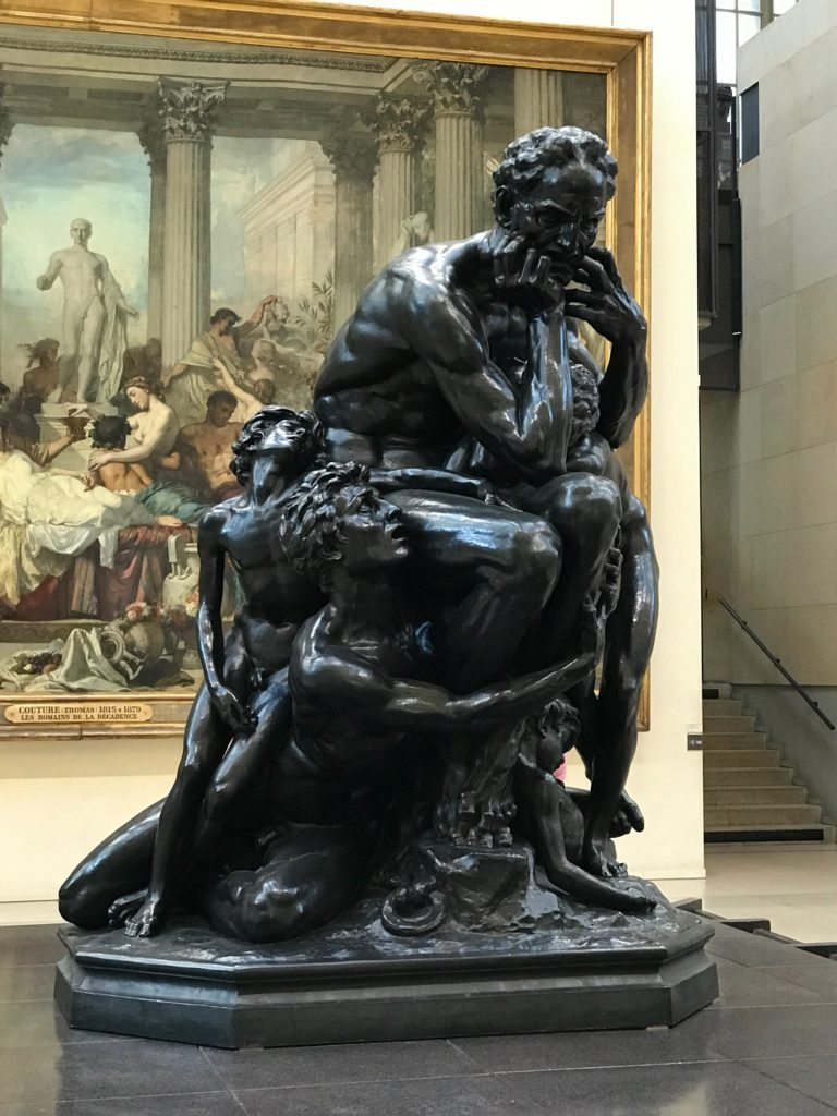 Jean-Baptiste Carpeaux sculpted expressions of extreme anguish in Ugolino and his sons.