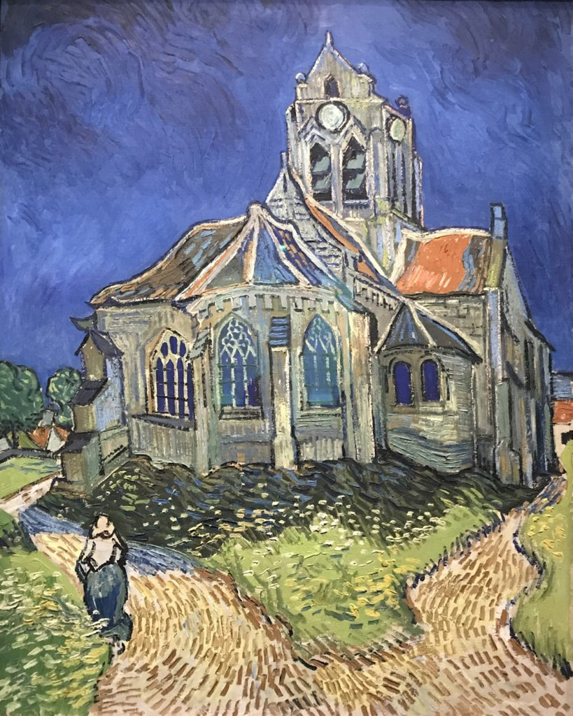 What looks like a haunted house by Van Gogh.
