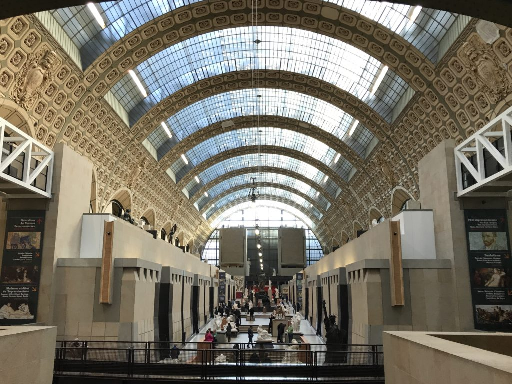What used to be the train tracks and platforms is now d'Orsay's Main hall.