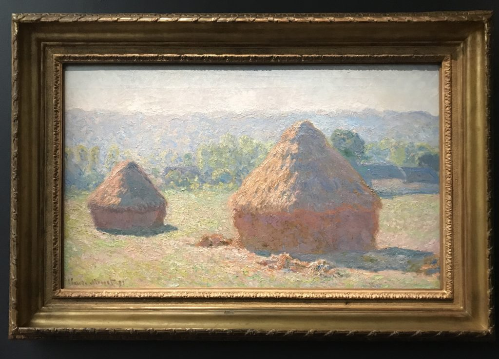As the story goes, a buyer of one of the haystack paintings hung it upside down! He didn't know any better. He was so wealthy, he had never seen a haystack before!