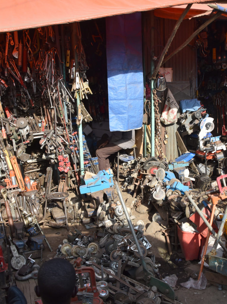 Addis Ababa Mercado: Selling spare parts from every possible machine that has been discarded