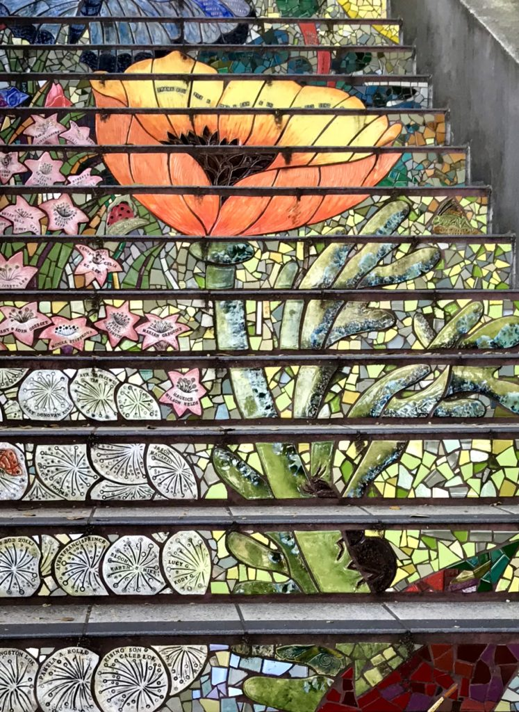 My favorite section of the Hidden Garden Stairs is the Tulip.