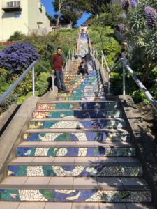 Several scenes waived together at the 16th Avenue Tiled Steps