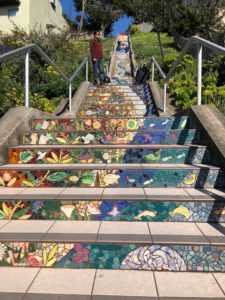An ocean scene at the 16th Avenue Tiled Steps