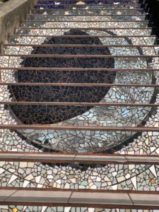 The Moon at the 16th Avenue Tiled Steps