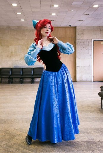 Ariel's Blue Town Dress Costume on Etsy by PhoenixCardinal