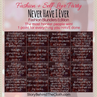 Never Have I Ever - #FashionSelfLoveParty Game - Fashion Blunders Edition