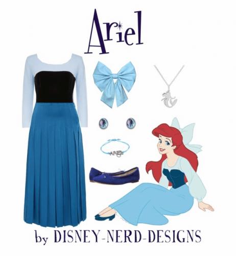 Ariel Kiss The Girl Dress on Polyvore by Disney-Nerd-Designs