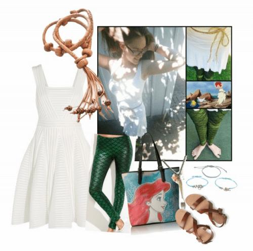 Ariel Sail Dress Re-Interpretation on Polyvore by StoryBehindTheCloth