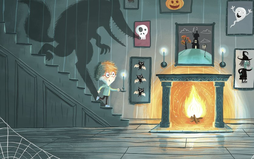 Free Animated Fireplace Wallpaper Haunted Wolf House By Jevs Illustration On Storybird