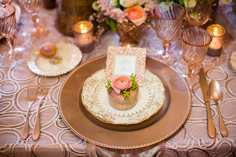 pink club chair staples drafting rose gold glamour wedding confetti cake
