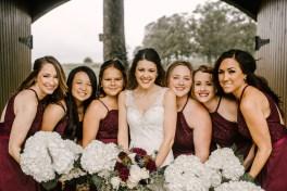 Bride and Bridesmaids at Storybook Barn, Missouri
