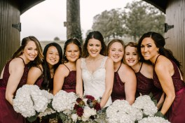 Bride and Bridesmaids at Storybook Barn, Missouri