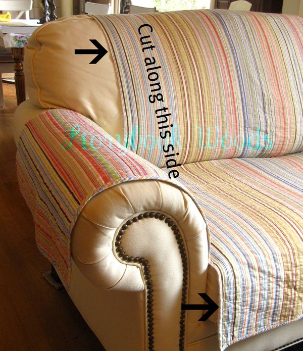 how much fabric to make a sofa cover bristol collection your own loveseat protector storybook woods