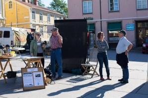 Ekenäs StoryCaravan och Ekenäs StoryWalk hade en pop-up dag på torget i augusti