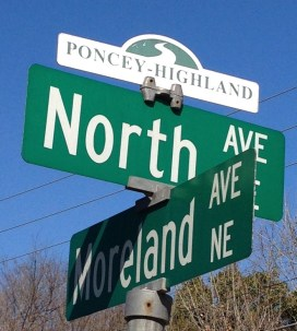 North Avenue, Atlanta, Poncey-Highland, Little Five Points, Freedom Park,